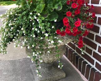 another concrete garden planter
