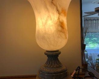 Pair Alabaster lights