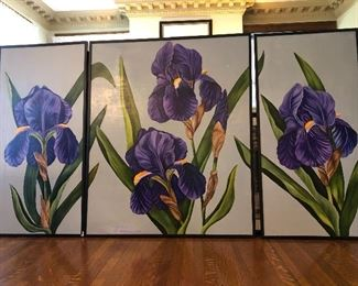 Large oil on canvas Triptych                                                                     BUY IT NOW $80.00