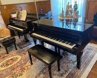 Baby Grand and Grand Piano