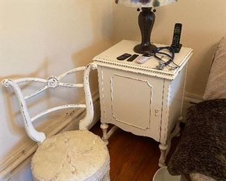 Painted white furniture