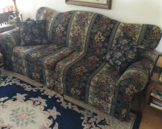 Couch With Floral Print, Excellent Condition