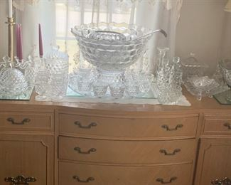 Wonderful Server, With Multiple Pieces Of Fostoria Including Multiple Size Fostoria Punch Bowls