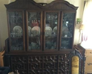 Vintage China Hutch. Goes With The Dining Table And Chairs