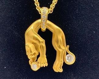 Cartier Style  Gold Panther