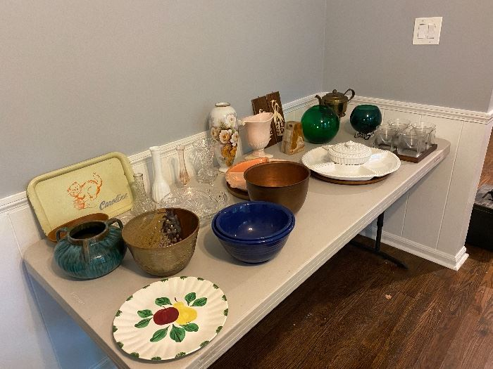 Huge selection of platters, bowls, eclectic pieces