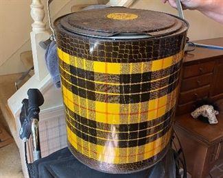 Vintage  tartan totor cooler