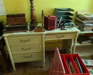 Have matching high boy dresser and another desk
