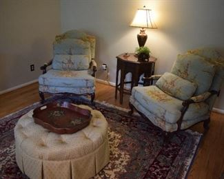 chairs and ottoman by Highland House