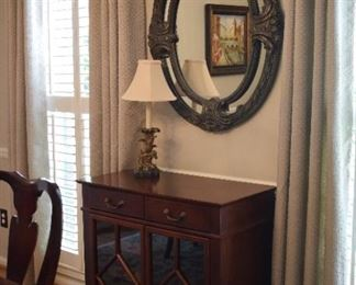 matching cabinet, mirror, lamp