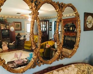 gorgeous antique mirrors (several)