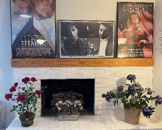 Movie Posters, Floral Arrangements