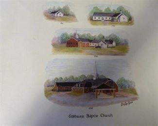Oakhurst church print