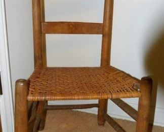 Early straight back chair