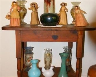 Super table, miscellaneous pottery