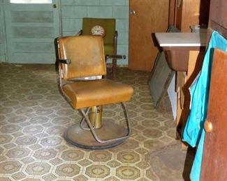 Vintage beauty shop equipment