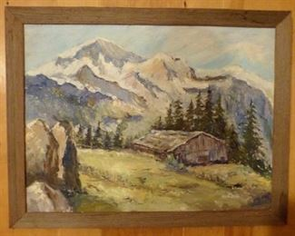 Early oil on board painting