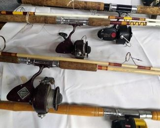 Very clean rods and reels