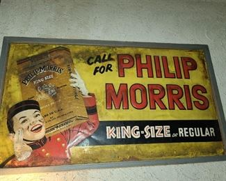 Antique Philip Morris Sign