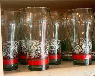Coke Christmas glasses