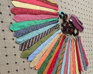 Silk Ties, bow ties and leather belts!!! Peter Blair, Robert Talbots, Hermes...