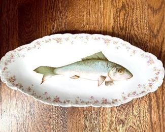 Set of Vintage Fish plates by LS&S Austria