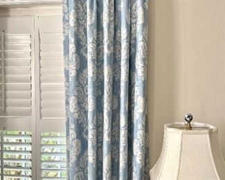 Stunning custom draperies throughout the home