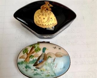 Painted Limoges boxes