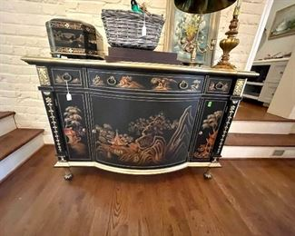 Hold on for this one...photo is not doing it justice - this is perhaps the best sideboard EVER. I will take closer shots today - but zoom in for the detail!
