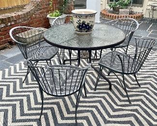 New outdoor rug, MCM outdoor chairs, planters and pots!