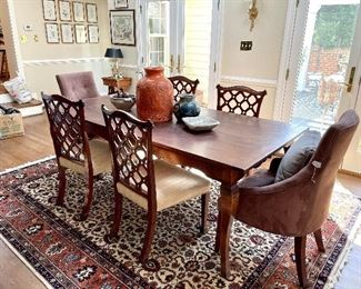 Farm Table! RUGS! And a fun collection of pottery