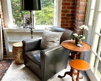 Coach Leather Chair for Baker