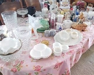 Antique Dishes & Servers