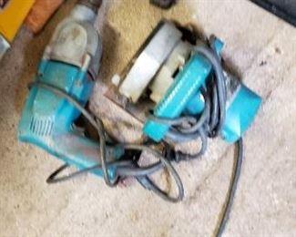 """Makita Electric 1/2"""" Drill and Circle Saw."""