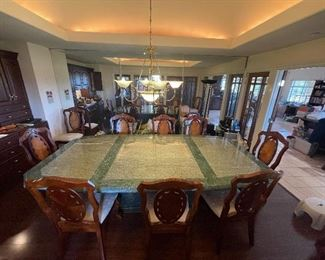 A magnificent marble table that cost $25,000 to make and install... A wonderful piece for the right home.