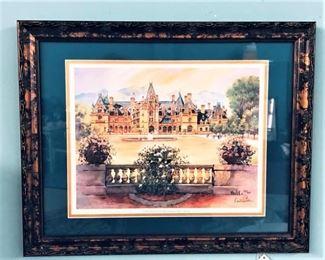 Ann Vasilik Biltmore Painting Signed  Numbered