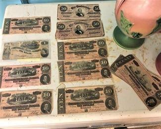 Confederate United States Bills
