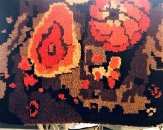 Hooked Brown and Orange Rug