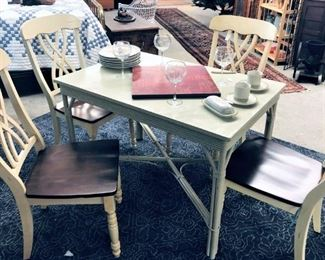 Painted Chairs and Table