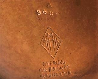 Sterling on Bronze Detail