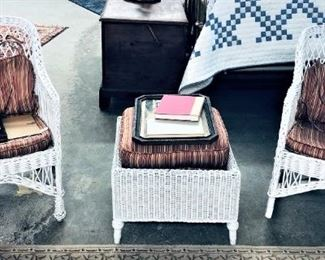 Wicker Set with Pillows and Cushions