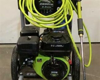Located in: Chattanooga, TN MFG Ryobi Model RY802925VNM Ser# LT20390N140269 Gas Pressure Washer 2900 PSI MFR Date - 09/20/20 *Sold As Is Where Is*  SKU: T-WALL Tested -Works