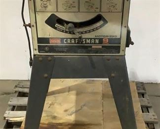 """Located in: Chattanooga, TN MFG Craftsman Model 113.24190 Ser# 7172.00050 9"""" Table Saw **Sold as is Where is** Tested-Works"""