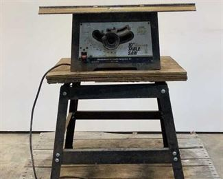 """Located in: Chattanooga, TN Power (V-A-W-P) 1-1/2 Hp 10"""" Table Saw Size (WDH) 27""""Wx25-3/4""""Dx37""""H *Sold As Is Where Is* Tested- Works"""