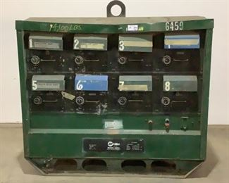 """Located in: Chattanooga, TN MFG Miller Ser# KE577979 Power (V-A-W-P) 230/460/575V - 60Hz - 170/85/68A - 3P 8 Pack Welding Unit Size (WDH) 72""""W x 40""""D x 63""""H *Compass Is Unable To Verify Working Condition* **Sold as is Where is**  SKU: A-3 Unable To Test"""