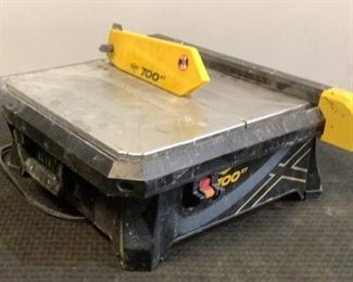"""Located in: Chattanooga, TN MFG QEP Model 700XT Power (V-A-W-P) 550W - 120V - 60Hz - 4.8A Rating 3/4 HP Tile Cutter 3500 RPM 7"""" Blade **Sold As Is Where Is** Tested Works"""