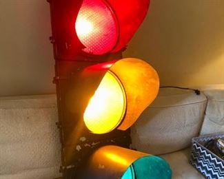 Working Traffic Light wall decor / lamp / light