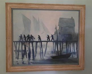 """Tod Lindenmuth Painting """"Tough Outside"""""""