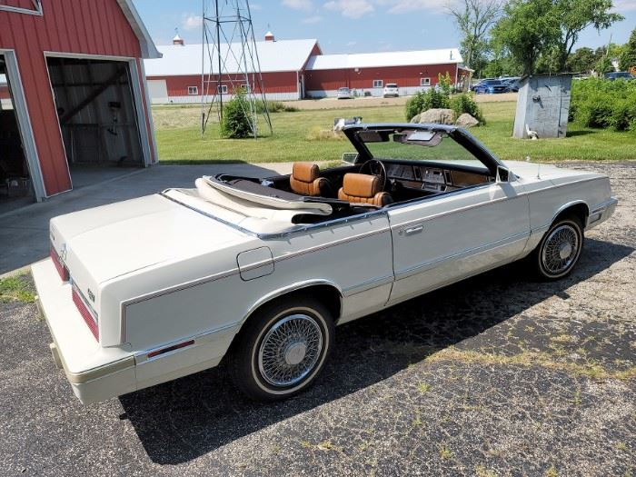 1982 Chrysler LeBaron convertible. Taking offers until this Friday June 18 12 p.m. Call Gail with offers 630-432-0926. You can view it Wednesday June 11:00 a.m. - 2 p.m.