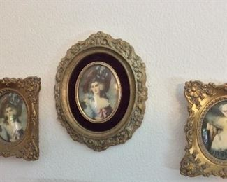 Antique Framed Pictures of Victorian Ladies